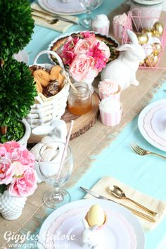 How to Create a Stylish Table Setting for Easter Brunch - Giggles Galore