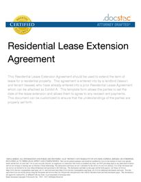 Residential Lease Extension Agreement