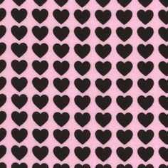 Lecien Heart Dots Fabric Polka Dot Hearts Valentines Day Valentine Gray on Pink