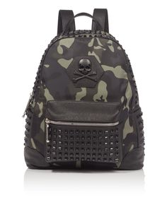 "PHILIPP PLEIN BACKPACK ""ASHFIELD"". #philippplein #bags #lining #polyester #backpacks #"