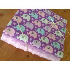 Michael Miller Mini Elephants in lilac & lilac plush