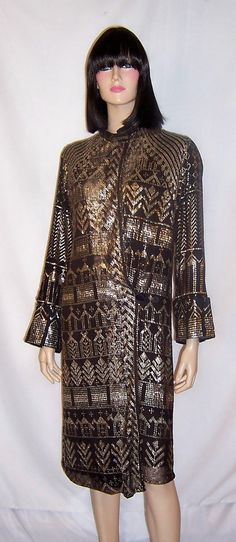 1920's Black and Silver Egyptian Assuit Coat on Etsy