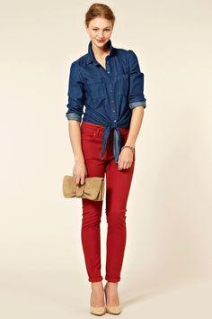 Crop Cherry Skinny Jeans