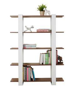 This White & Walnut Pagoda Display Shelf is perfect! #zulilyfinds