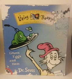 As New Pc Cd Rom Living Books Dr Seuss Green Eggs And