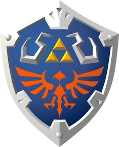 """So here we have the Hylian Shield as it appeared in """"Skyward Sword"""" for the Nintendo Wii. It's the reward from the Thunder Dragon Lanayru's boss battle fights if the player wins eight fights consec..."""