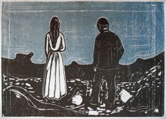 Edvard Munch  'The Lonely Ones'
