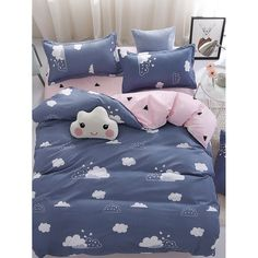 Type: Sheet Sets Style: Modern Color: Grey Material: 100% Polyester Duvet Cover Size: 220*240 cm Pillow Case Size: 48*75 cm Flat Sheet Size: 230*250 cm Including: Duvet Cover, 2pcs Pillow Case, Flat Sheet