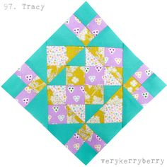 verykerryberry: Farmer's Wife Quilt Along, Blocks 97 and 98, Tracy and Viola