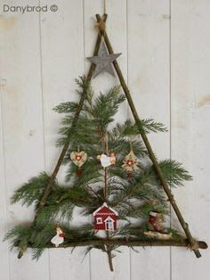 Image result for christmas tree from pine branches