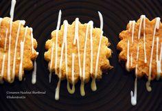 Cinnamon Hazelnut Shortbread w Cream Cheese Frosting