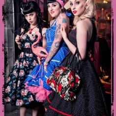 Dresses by hell bunny:) I love