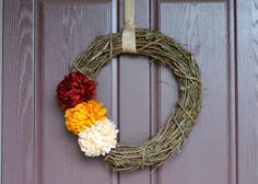 DIY Autumn Crafts :DIY Fall Crafts :DIY  a simple fall wreath