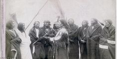 Peace council: The Indian chiefs who ended their war with the U.S. Army. Their names included Standing Bull, High Hawk, White Tail, Little Thunder and Lame