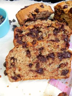 #Healthy Chocolate Chip Quick Bread made with spelt flour!