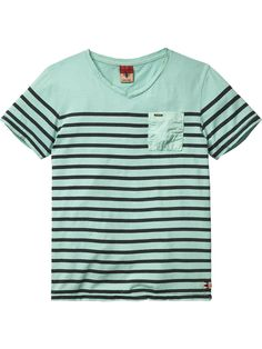 Dyed V-Neck T-Shirt | Jersey s/s tee's & tops | Boy's Clothing at Scotch & Soda