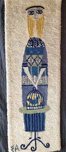 Vintage Evelyn Ackerman Mid Century Modern Tapestry