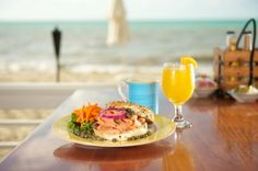 Breakfast with a view! At the Southernmost Beach Cafe!