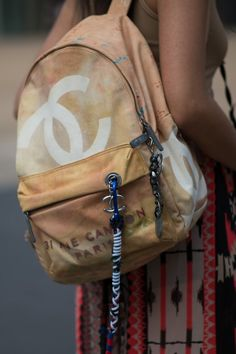 Pin for Later: The Street Style Accessories That Stopped Traffic at Fashion Week New York Fashion Week What's Fashion Week without a Chanel graffiti backpack spotting?