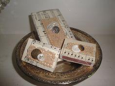 shabby christmas matchboxes