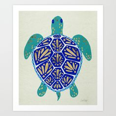 Sea+Turtle+Art+Print+by+Cat+Coquillette+-+$18.00