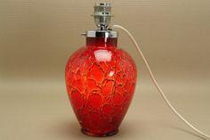 WMF IKORA red glass lamp base. Lampenfuss Glass rot