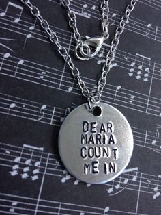 All Time Low Dear Maria Count Me In Hand Stamped by BandsAndMetal