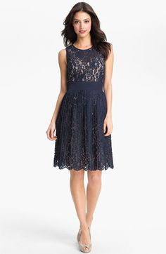 I ordered this for two summer weddings. I hope it works!      Eliza J Lace Fit & Flare Dress available at #Nordstrom