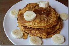 Two-Ingredient Protein Powder Pancake: 1/3 c egg whites and 1 scoop protein powder or 1 whole egg and 1 egg white, beaten.