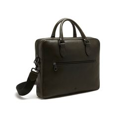 Slim Heathcliffe in Army Green Coloured Natural Leather | Men | Mulberry