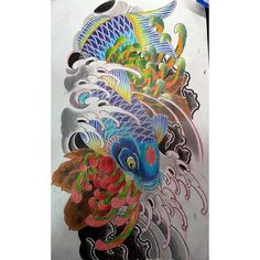 Practicing n learning always,  more to come.  #japanesetattoos #japaneseart #japanesecollective #asiantattoo #asianart #asian_inkandart #orientaltattoo #traditionaltattoo #koifish #sketching #colourpencil #tattoo_and_art #tattoolifemagazine  #sgtattoo #singaporetattoo #singaporeartist #galaxytattoo2 #irezumi
