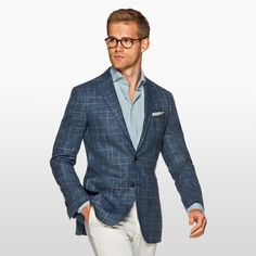 """suitsupply: """"Daily pick: The Havana blue check. http://suitsupp.ly/2kESgpF """""""