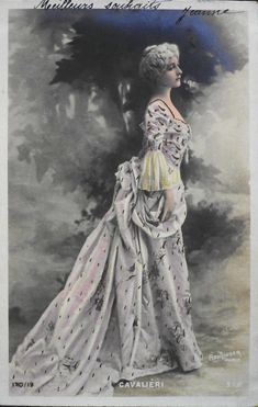 Natalina 'Lina' Cavaliéri.  Reutlinger Postcard.  SIP Series 170/19.