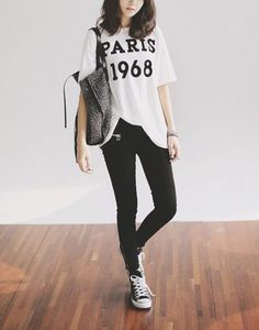 Tumblr Outfits with Skinny Jeans White | Found on phuonguyenx3.tumblr.com