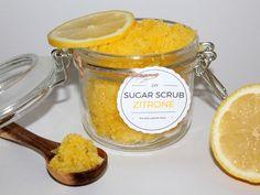 DIY Sugar Scrub / Zuckerpeeling Zitrone + Free Printable