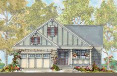 Cute Cottage with Options - 40057DB | 1st Floor Master Suite, Butler Walk-in Pantry, Cottage, Country, PDF | Architectural Designs