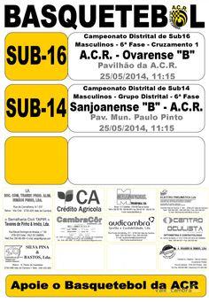 ACR: Basquetebol [Próximos Jogos] > 25 Mai 2014  #ValeDeCambra #basquetebol