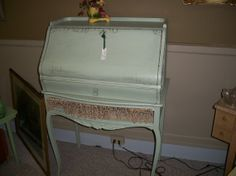 Drop Front Secretary Desk Shabby Chic