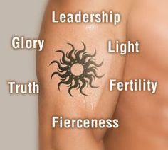 Sun Tattoo Meaning ~ via http://www.buzzle.com/articles/sun-tattoo-meaning.html