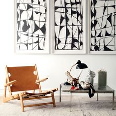 Børge Mogensen's Hunting Chair from Fredericia Furniture and PK61 table by Poul…