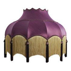 traditional vintage fringed silk floor standard lampshades