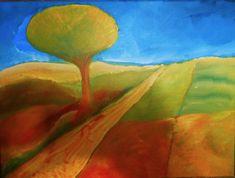 kleuren mengen ~ abstrahering/stilering van landschap Paint Pens, Mosaic, Mixed Media, Ink, Painting, Painting Art, Mixed Media Art, India Ink, Paintings