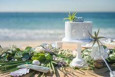 Cake from a Seaside Mermaid Party on Kara's Party Ideas | KarasPartyIdeas.com (12)