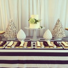 Two tier cake and dessert table by The Birdcage, Stellenbosch