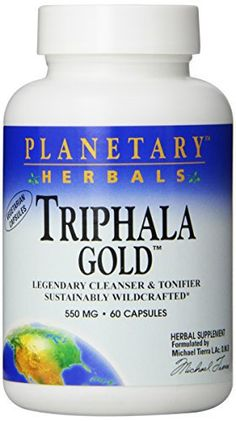 Triphala is the legendary intestinal cleanser and tonifier of India. Planetary herbals triphala gold is made with premier, high quality fruits. Grown without chemicals and pesticides in the pristine forests of Madhya Pradesh, each fruit is sustainably wild crafted and processed to maintain its... more details at http://supplements.occupationalhealthandsafetyprofessionals.com/herbal-supplements/triphala/product-review-for-planetary-herbals-triphala-gold-550mg-cleanser-for-gi-t