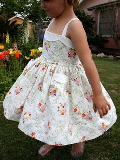 Dress from vintage sheets. This Mama Makes Stuff
