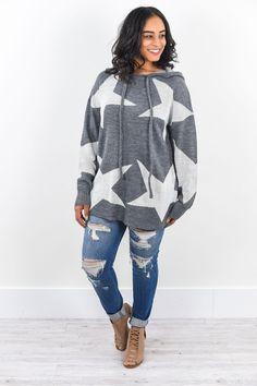 Rewrite The Stars Gray Star Hooded Sweatshirt - SWT222GR