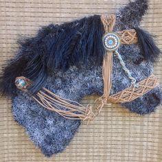 A custom order horse head wreath I created