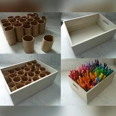 DIY Marker Organizer - Maybe for needles and hooks in my case # . - Organisation im Studio - Welcome Crafts Rangement Art, Paint Organization, Organization Ideas, Art Studio Organization, Ikea Office Organization, Board Game Organization, Marker Storage, Craft Room Storage, Kids Playroom Storage