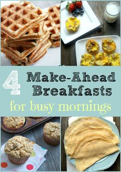 Get these recipes for make-ahead breakfasts that will save your busy week!